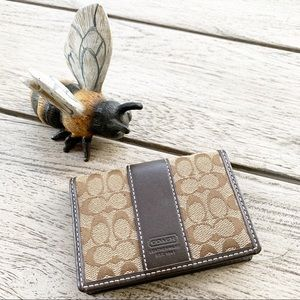 COACH Classic Pattern ID/Card Holder